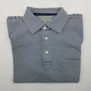 Vineyard Vines Martha's Striped Golf Polo Shirt M